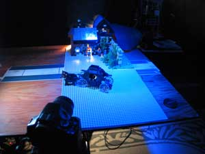 Ponder Pictures: Behind the Scenes look at setting up to animate second scene of new LEGO film.